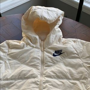 New Nike winter down coat reversible size small